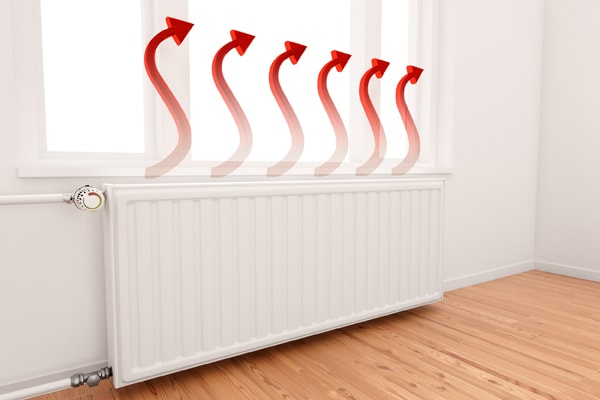 central-heating-warm-red-arrow