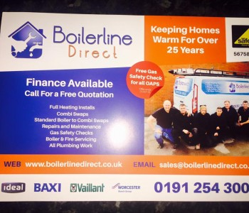 North East central heating service leaflet